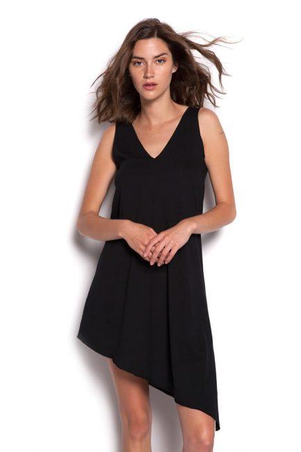 asymmetric black top