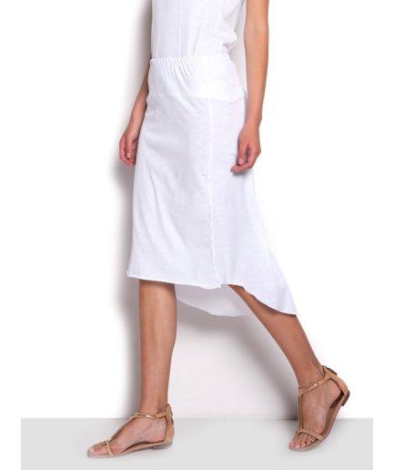 asymmetric cotton skirt