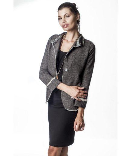 elastic suit jacket