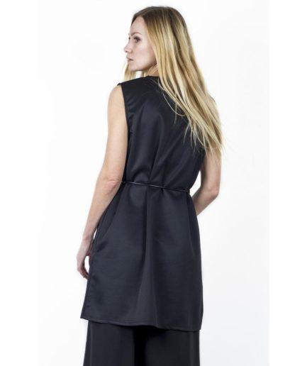 long waistcoat in alcantara