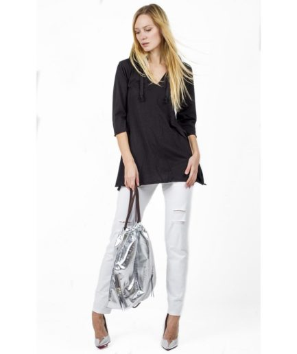 Cotton tshirt with hoodie