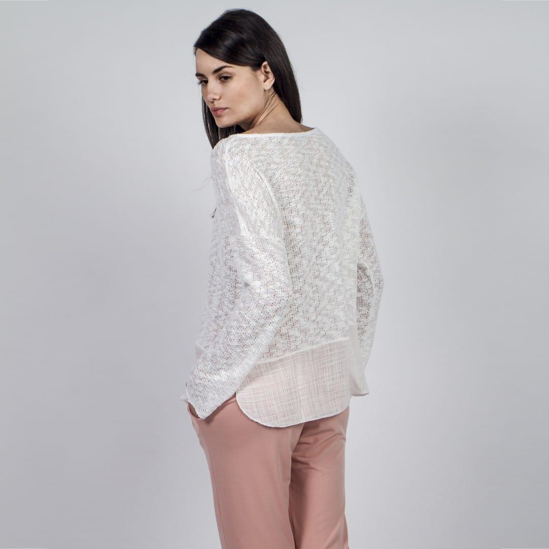 aeca912b3f5c Off white tshirt with linen finish - Womans Clothes - Dresses - Xanashop
