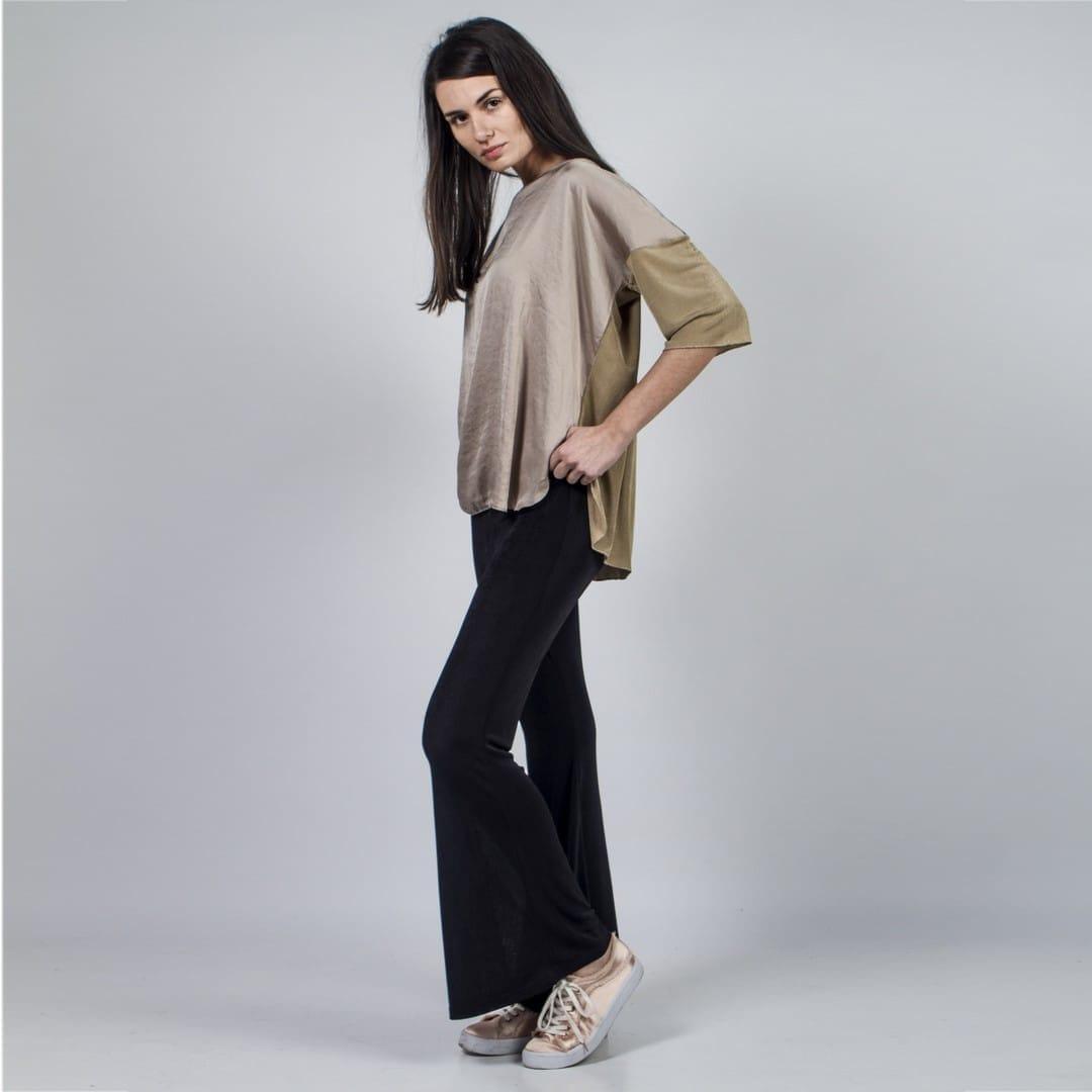 265707ce08db Μαύρο κολάν καμπάνα ασετάτ - Γυναικεία Ρούχα - Φορέματα - Xanashop