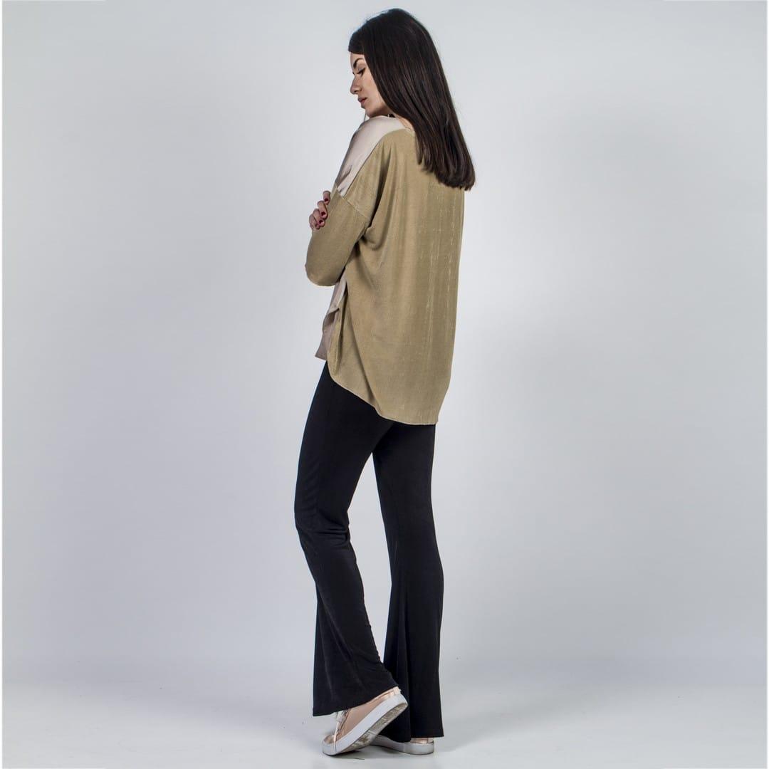 377c2f95f964 Μαύρο κολάν καμπάνα ασετάτ - Γυναικεία Ρούχα - Φορέματα - Xanashop