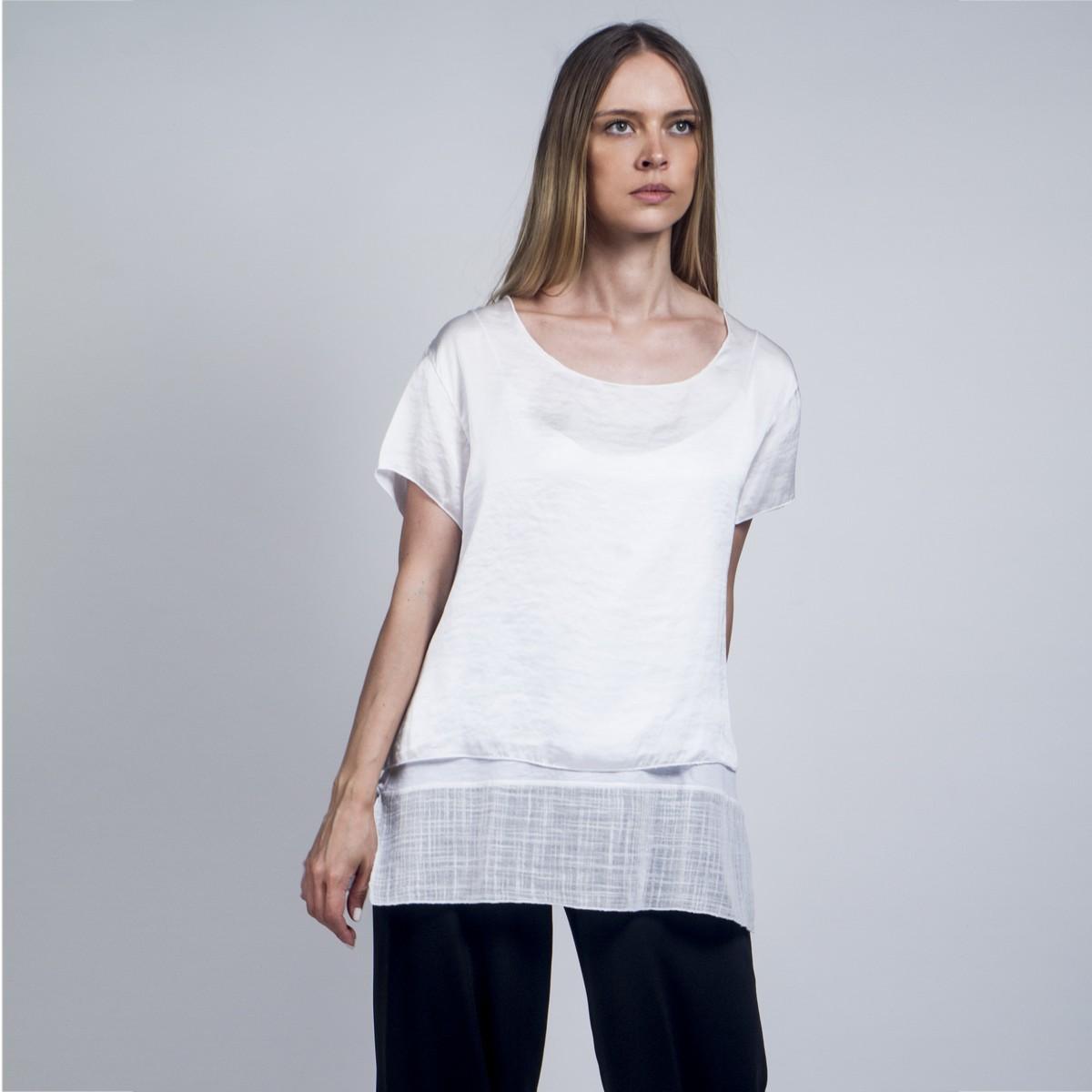 1ce288aa194e Σατέν μπλούζα με εσωτερικό τοπ - Γυναικεία Ρούχα - Φορέματα - Xanashop
