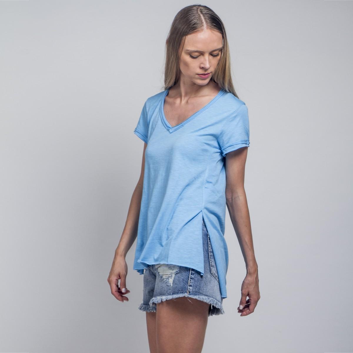 ee041bb41967 Ασύμμετρο tshirt με σκισίματα - Γυναικεία Ρούχα - Φορέματα - Xanashop