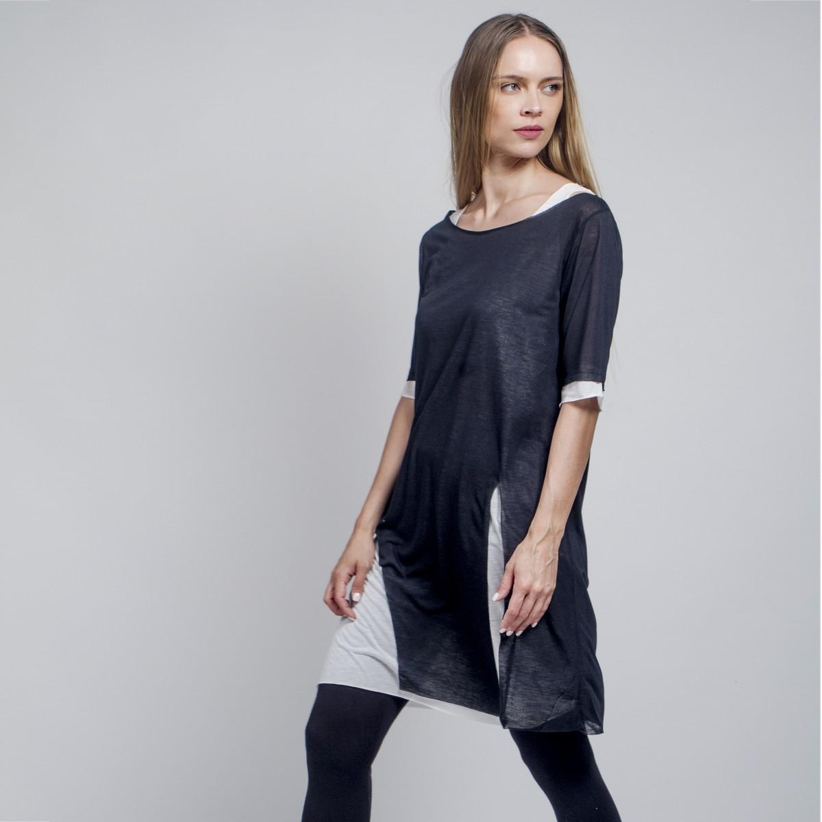 fc5b2d6d3de2 Διπλή μπλούζα από γάζα - Γυναικεία Ρούχα - Φορέματα - Xanashop