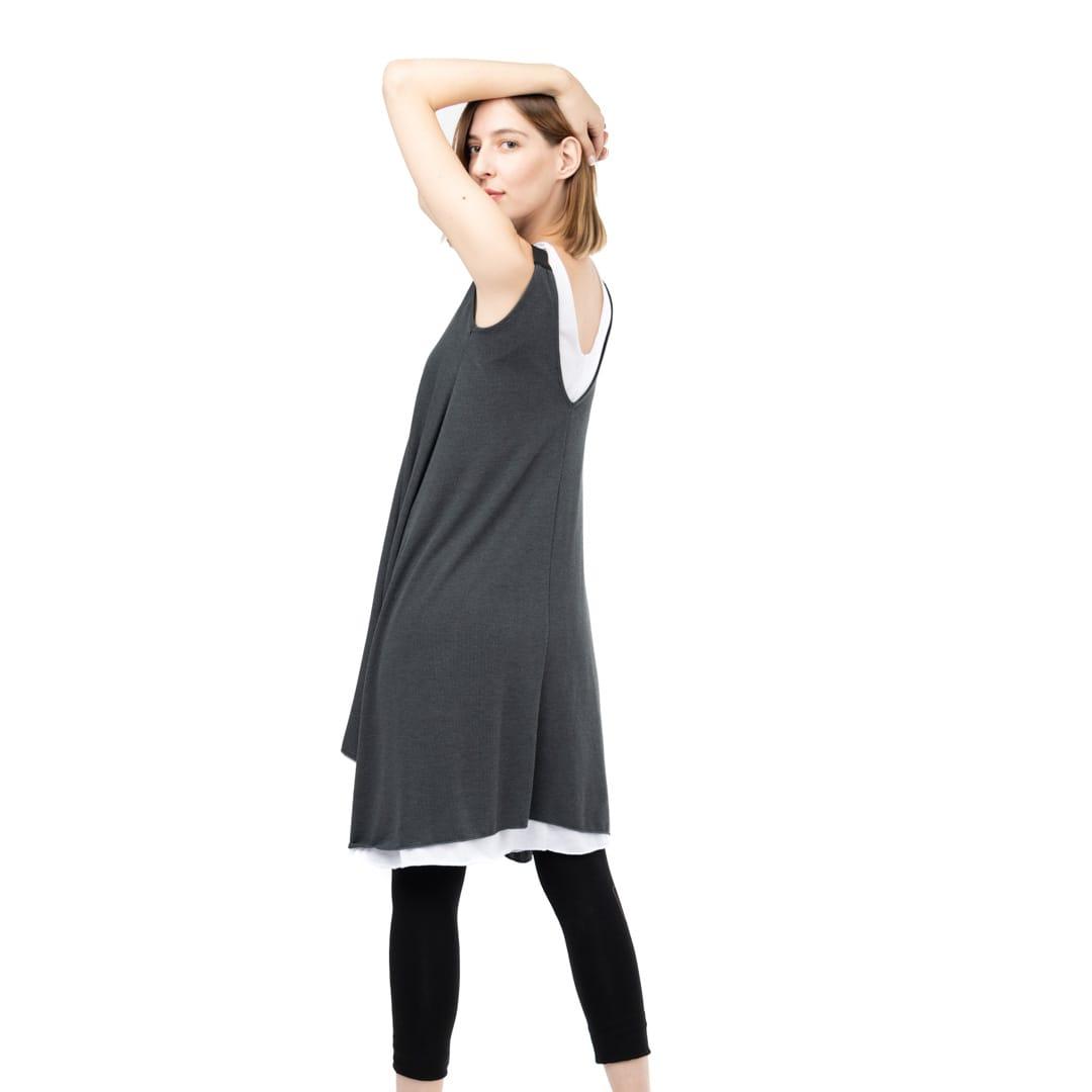d97aed7684d0 Μακρύ διπλό μπλουζοφόρεμα - Γυναικεία Ρούχα - Φορέματα - Xanashop