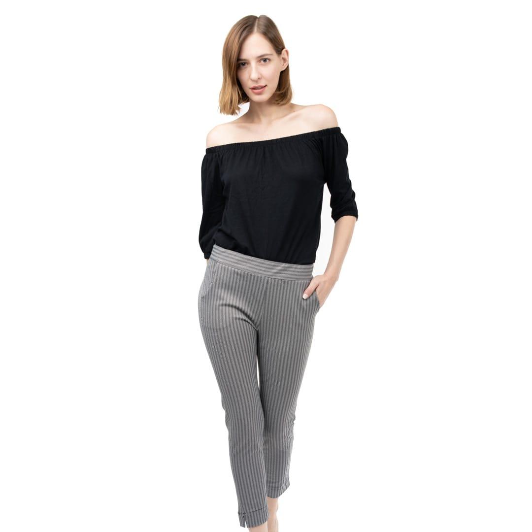 226268843e96 Ελαστικό skinny παντελόνι σε γκρι ψαροκόκκαλο - Γυναικεία Ρούχα ...