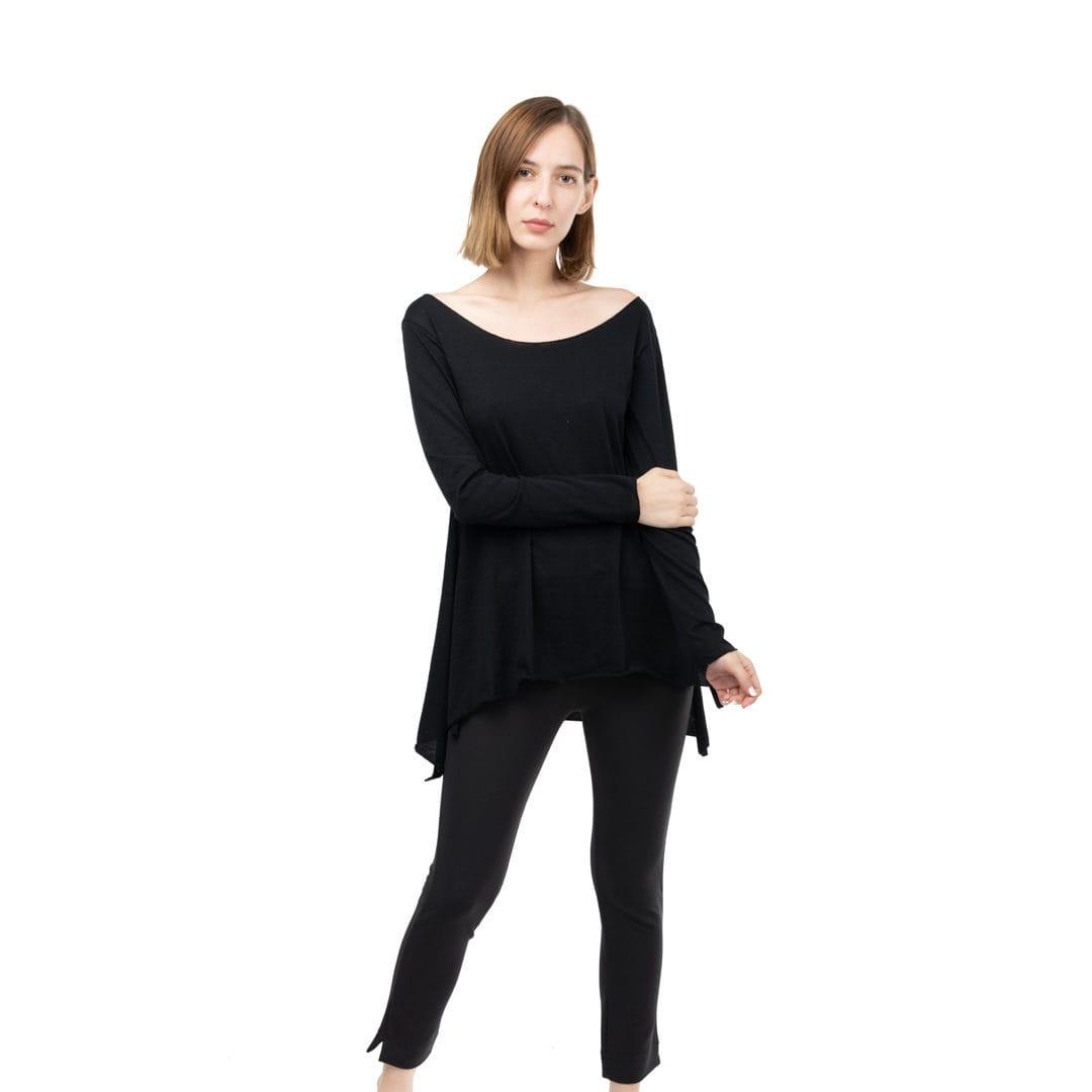 42f31dd2d69f Μεσάτη μακριά βαμβακερή μπλούζα - Γυναικεία Ρούχα - Φορέματα - Xanashop