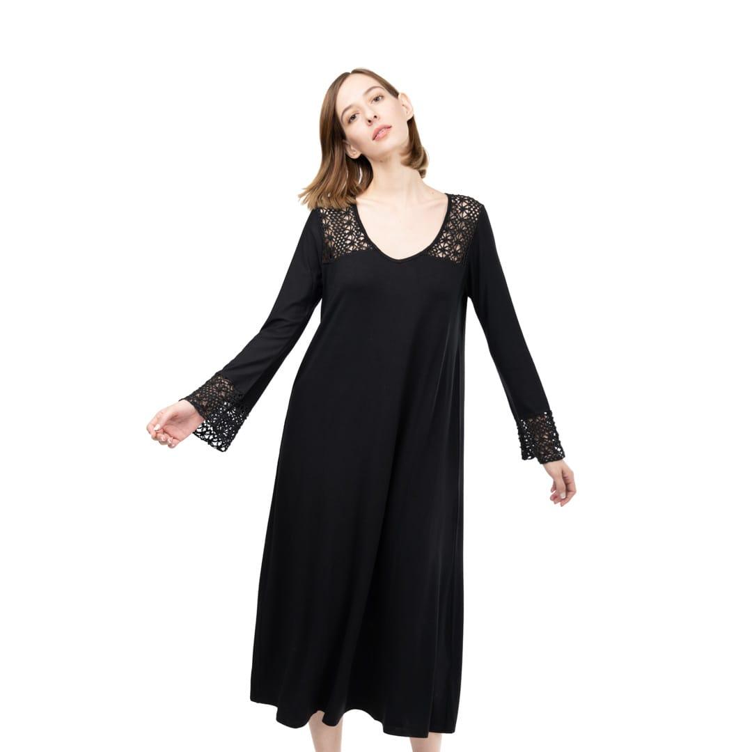 e38b2a177d2 Oversized dress with lace details - Womans Clothes - Dresses ...