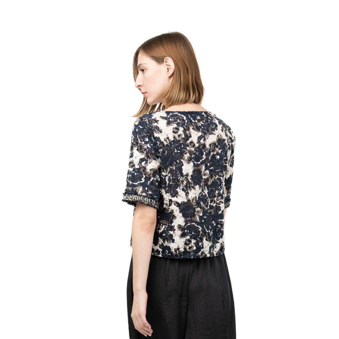 55eaf6fdf39d Δαντελωτή μπλούζα σε φλοράλ πριντ - Γυναικεία Ρούχα - Φορέματα ...