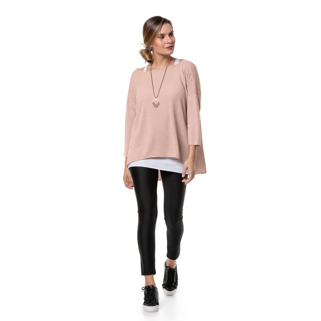 b9c149073a89 Πλεκτή διπλή μπλούζα στο χρώμα της πούδρας - Γυναικεία Ρούχα ...
