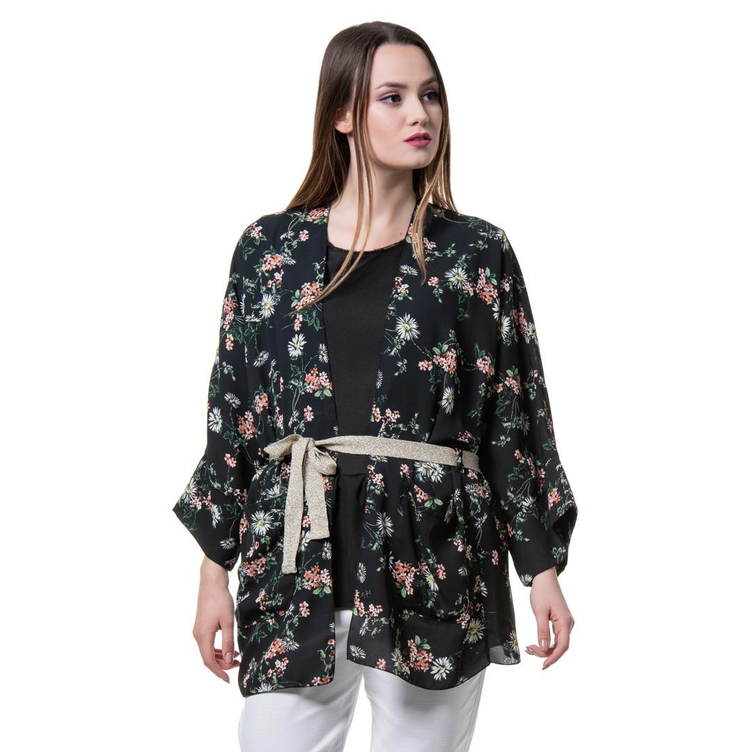 a31b12485891 Φλοράλ μαύρο κιμονό - Γυναικεία Ρούχα - Φορέματα - Xanashop