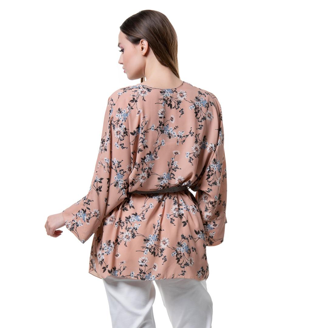f822689c3ce1 Φλοράλ κιμονό στο χρώμα της πούδρας - Γυναικεία Ρούχα - Φορέματα ...
