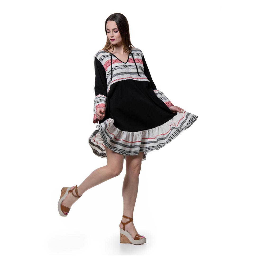 9c7ab33d8efa Boho μίντι φόρεμα με υφαντές φάσες - Γυναικεία Ρούχα - Φορέματα ...