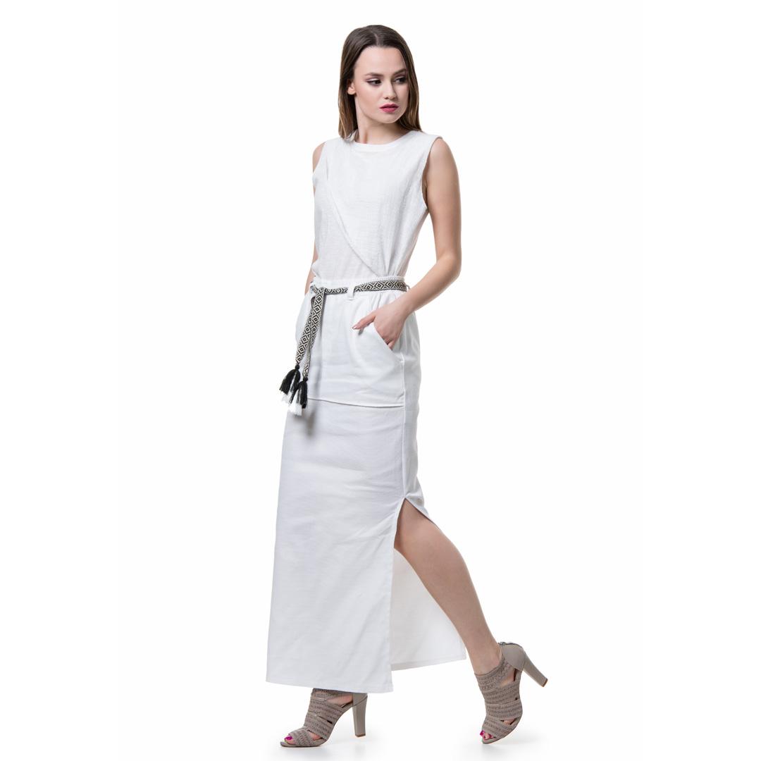 8a132c285499 Ασπρη μάξι λινή φούστα - Γυναικεία Ρούχα - Φορέματα - Xanashop