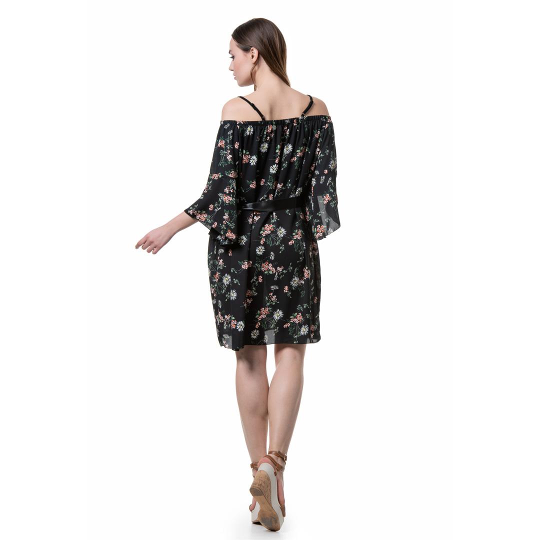 51c9a8346270 Φλοράλ έξωμο φόρεμα - Γυναικεία Ρούχα - Φορέματα - Xanashop