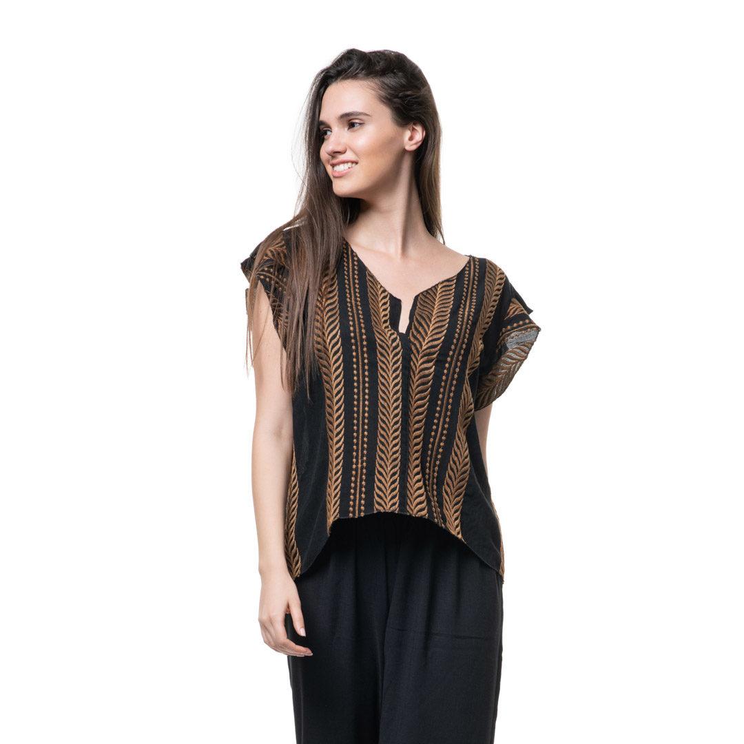 125f72222a5 Boho τοπ με βολαν μανικια - Γυναικεία Ρούχα - Φορέματα - Xanashop